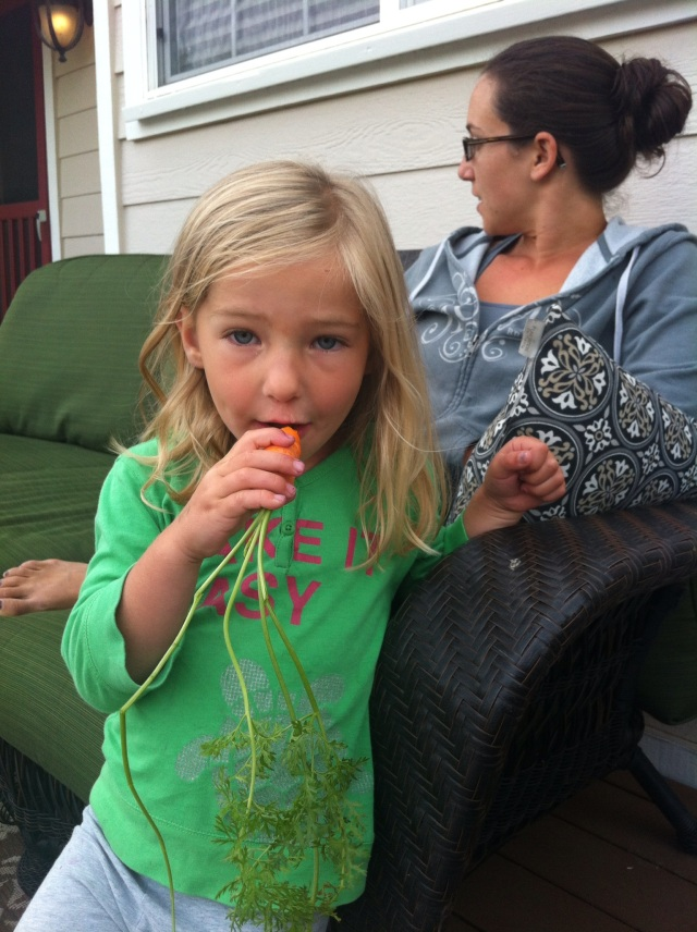 Ellie Munching on a Carrot