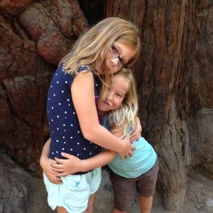 Kailyn and Ellie at Armstrong Woods Jul2015
